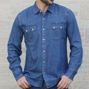 Levi's Men's Denim Jean Western Shirt Long Sleeve